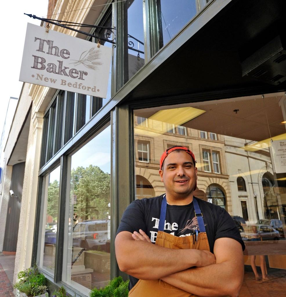 Brandon Roderick outside his downtown bakery.