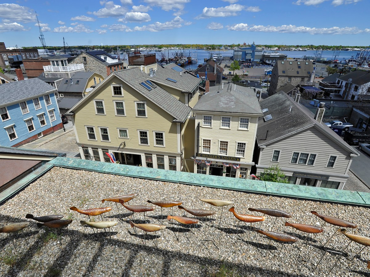 Aerial view of downtown New Bedford.