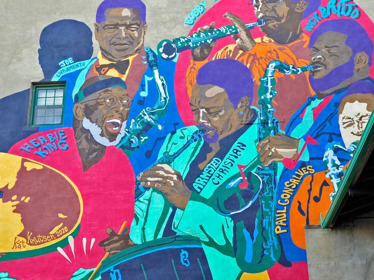 Jazz Mural in New Bedford.