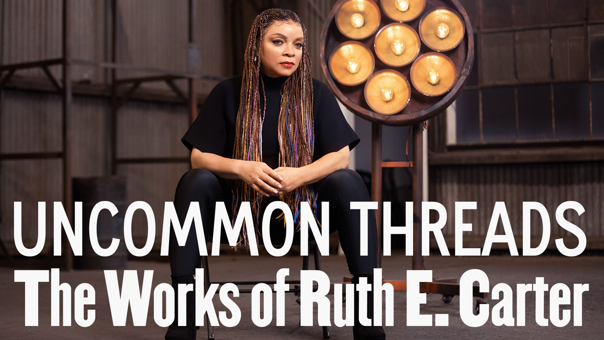 Ruth Carter exhibition poster.