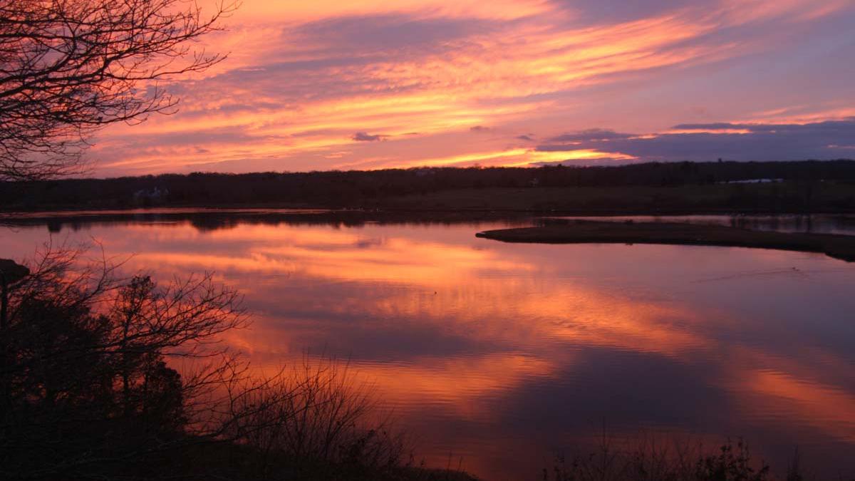 Slocum's River at sunset.