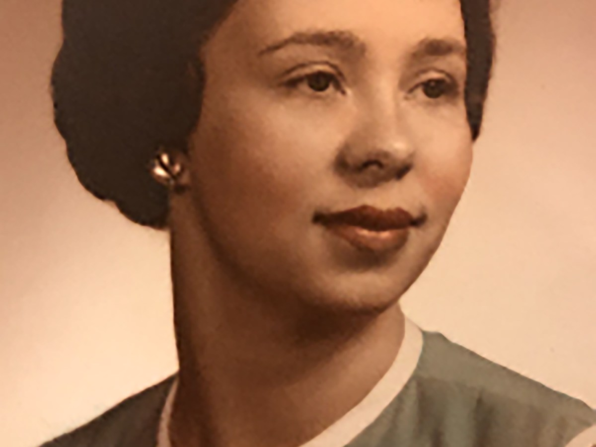 Portrait of Clara DaSilva as a young woman.