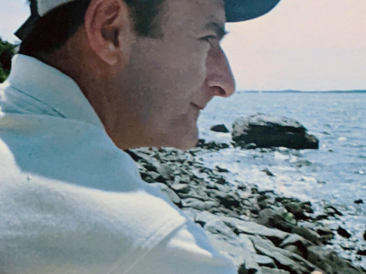 Stephen Sears looks at ocean.