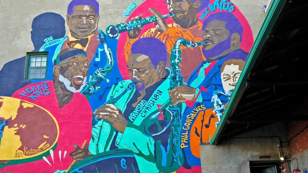 Jazz Mural in New Bedford