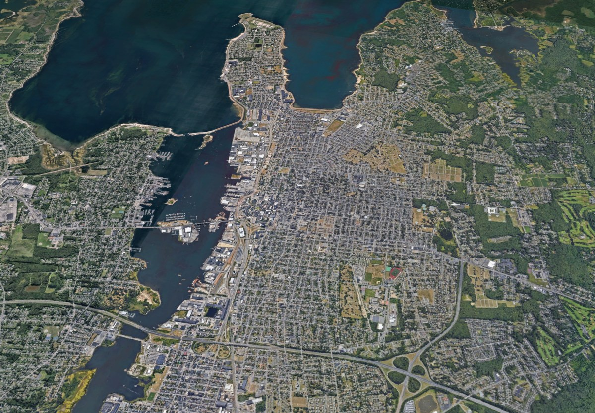 Aerial view of New Bedford.