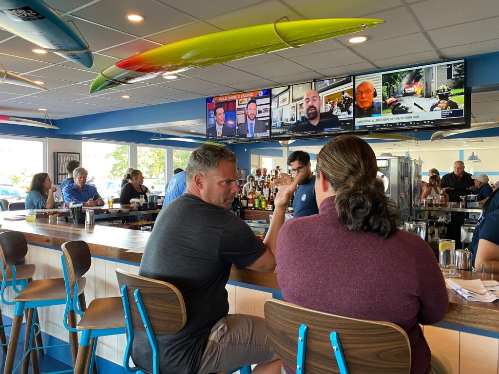 Inside Cisco Breweries Kitchen and Bar in New Bedford.