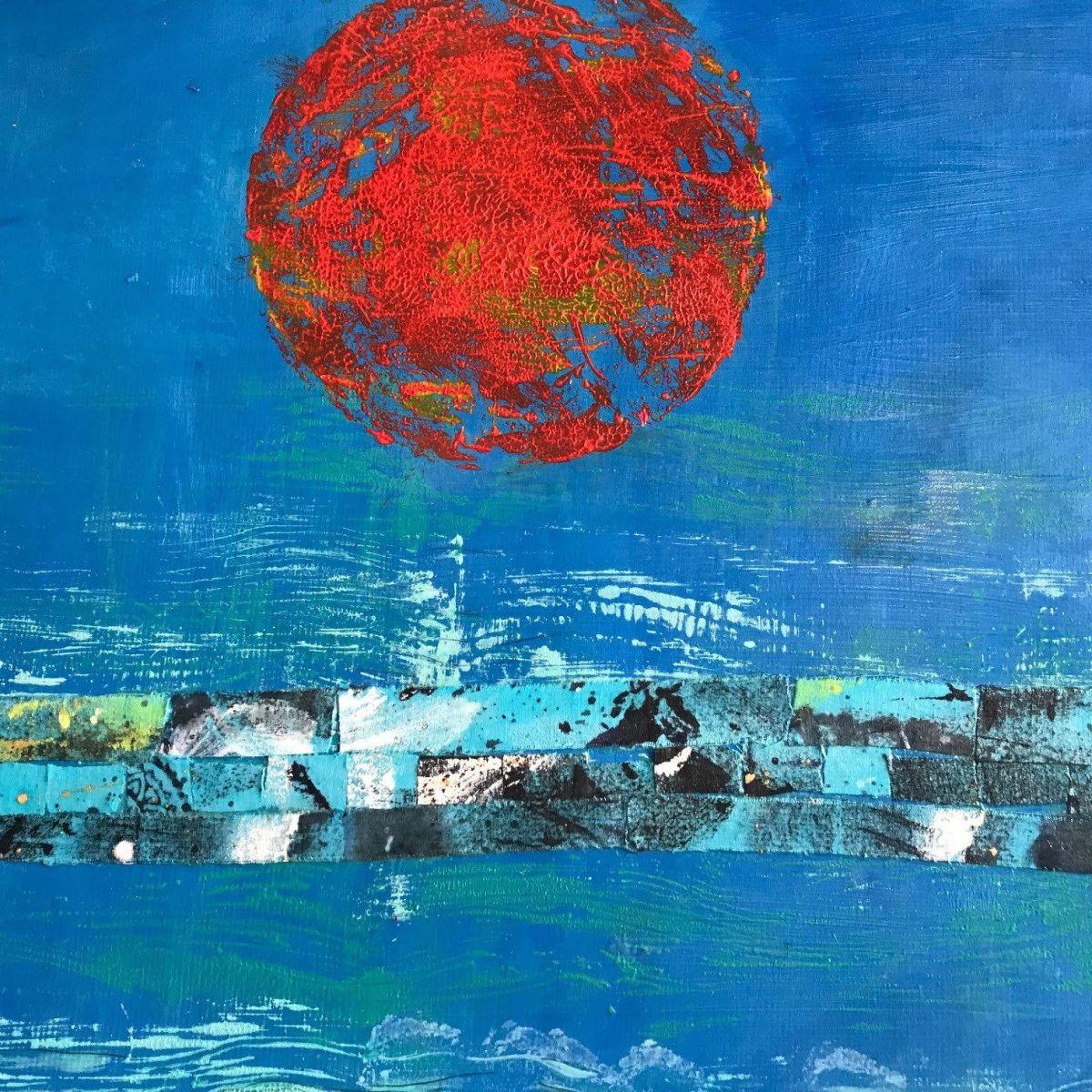"""""""Red Sun"""" by Judith Klein."""