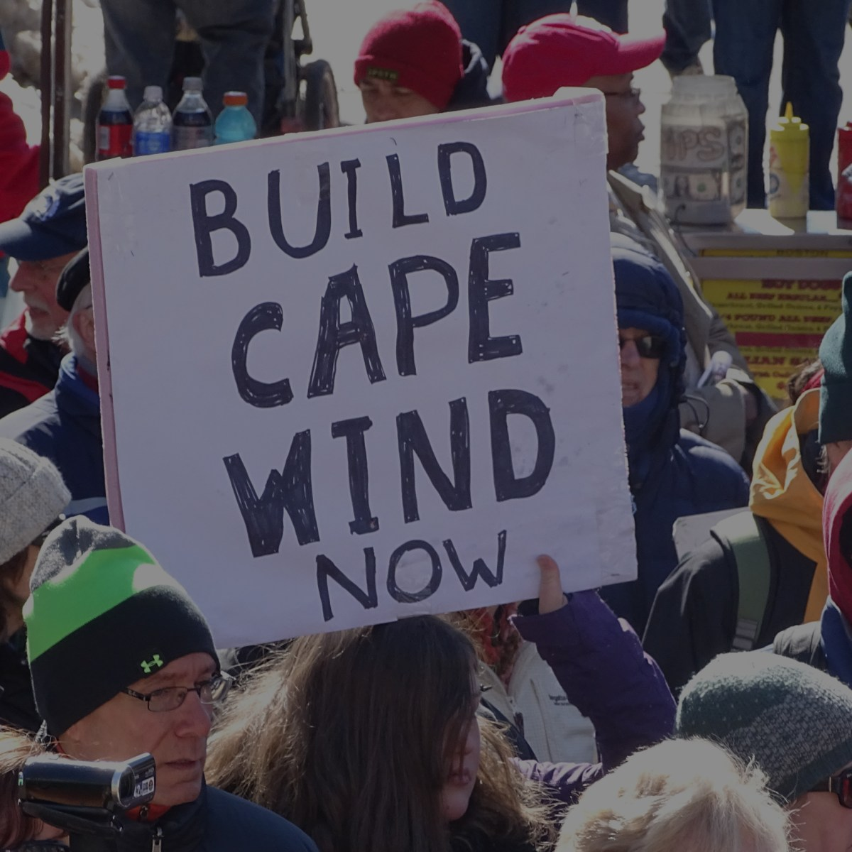 Save Cape Wind rally, Boston 2015.