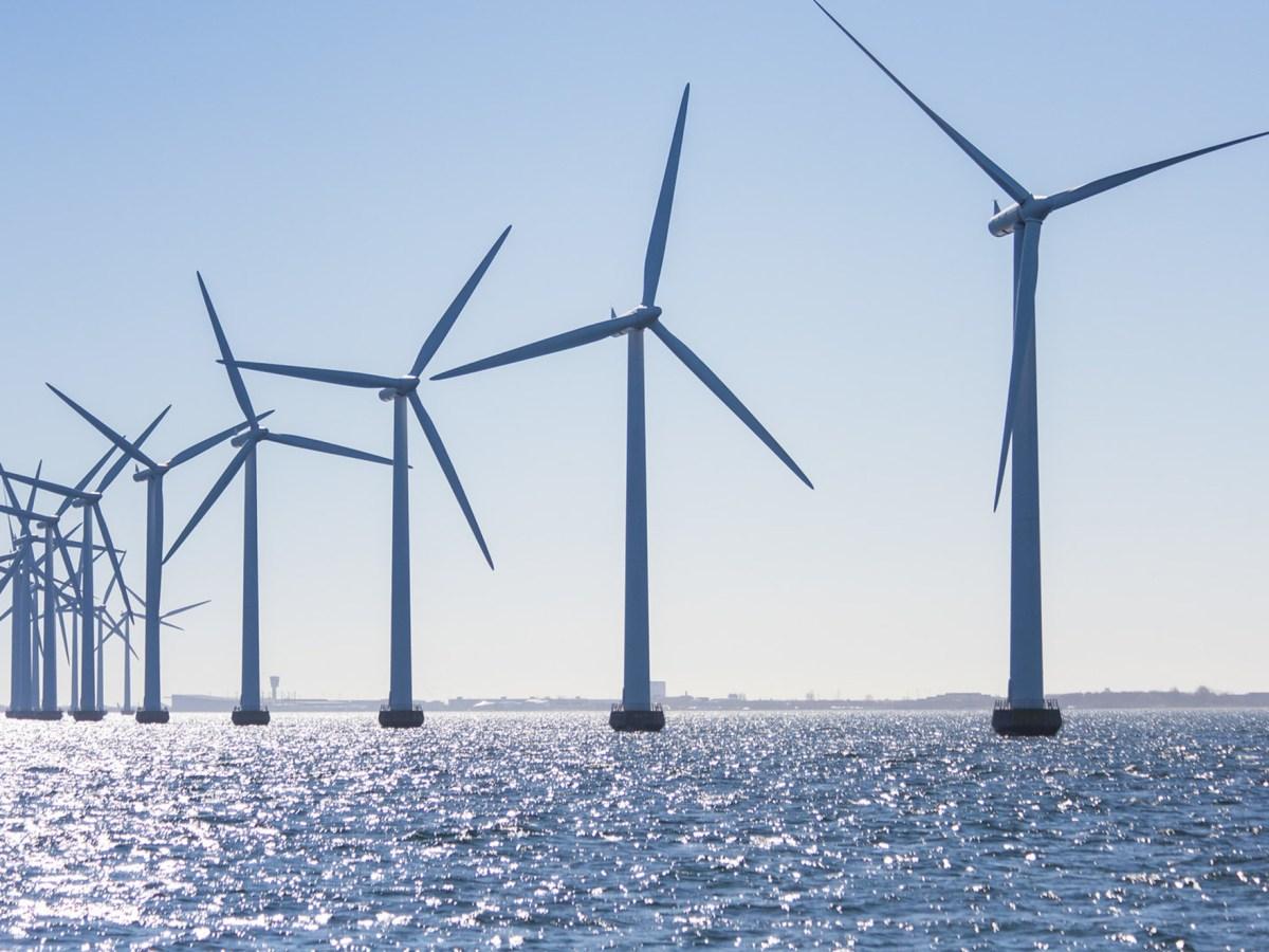 Middelgrunden offshore windfarm.