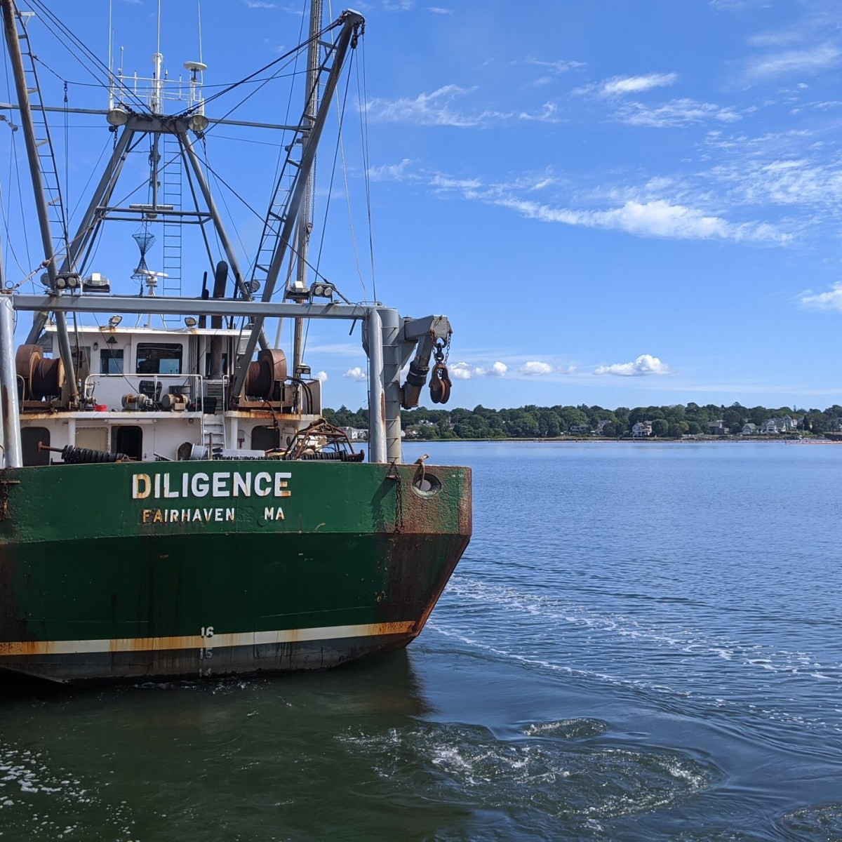 The Diligence motors out of New Bedford.