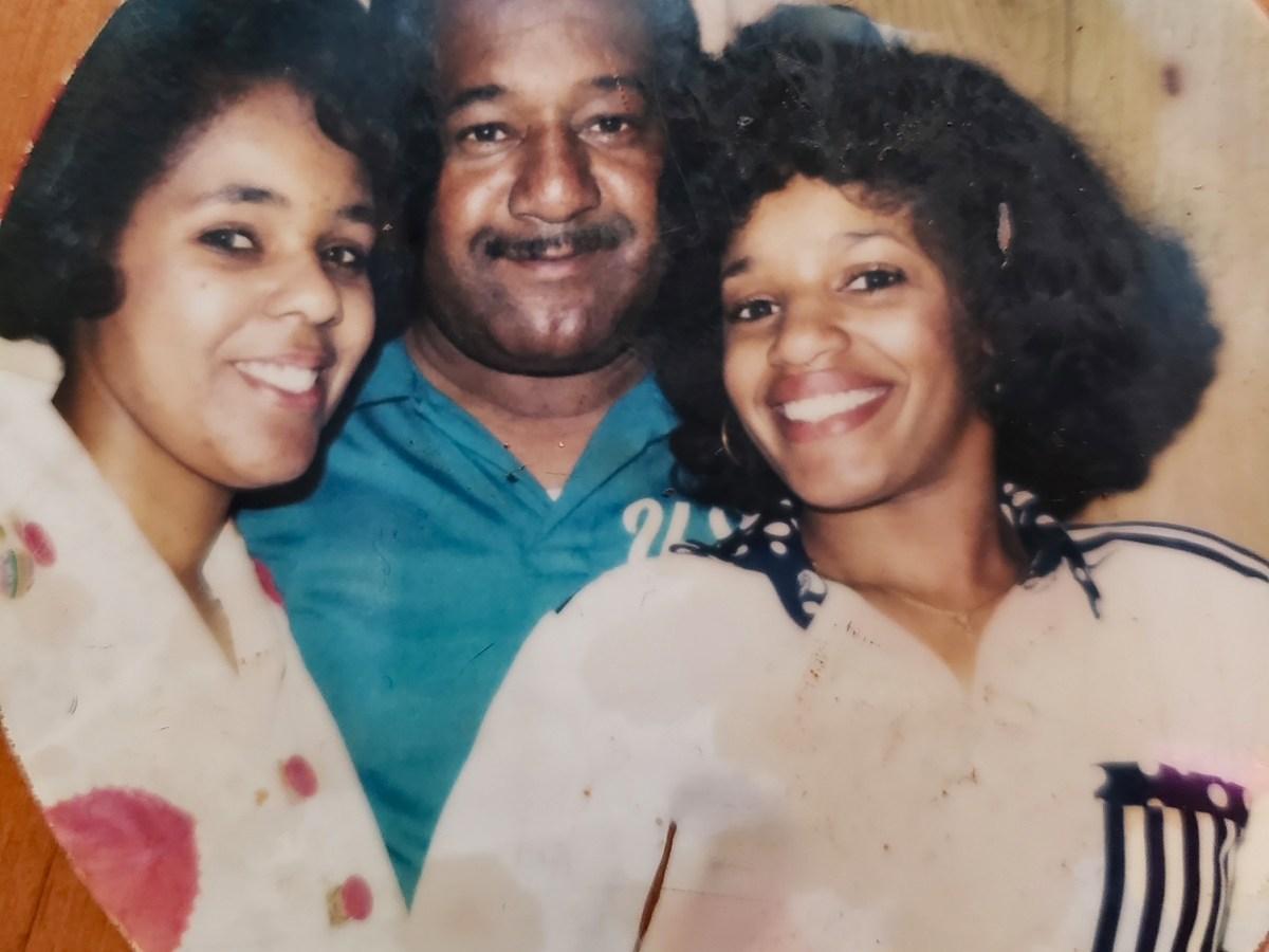 Fran Haddocks with daughters Donna Robertson and Belinda Bulgar.
