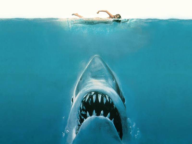 """Detail from """"Jaws"""" poster."""