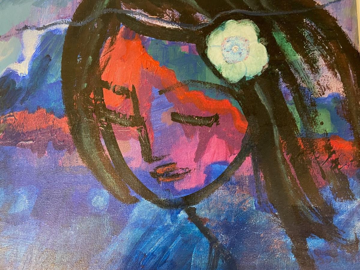 """""""Flower In Her Hair,"""" Judith Klein."""