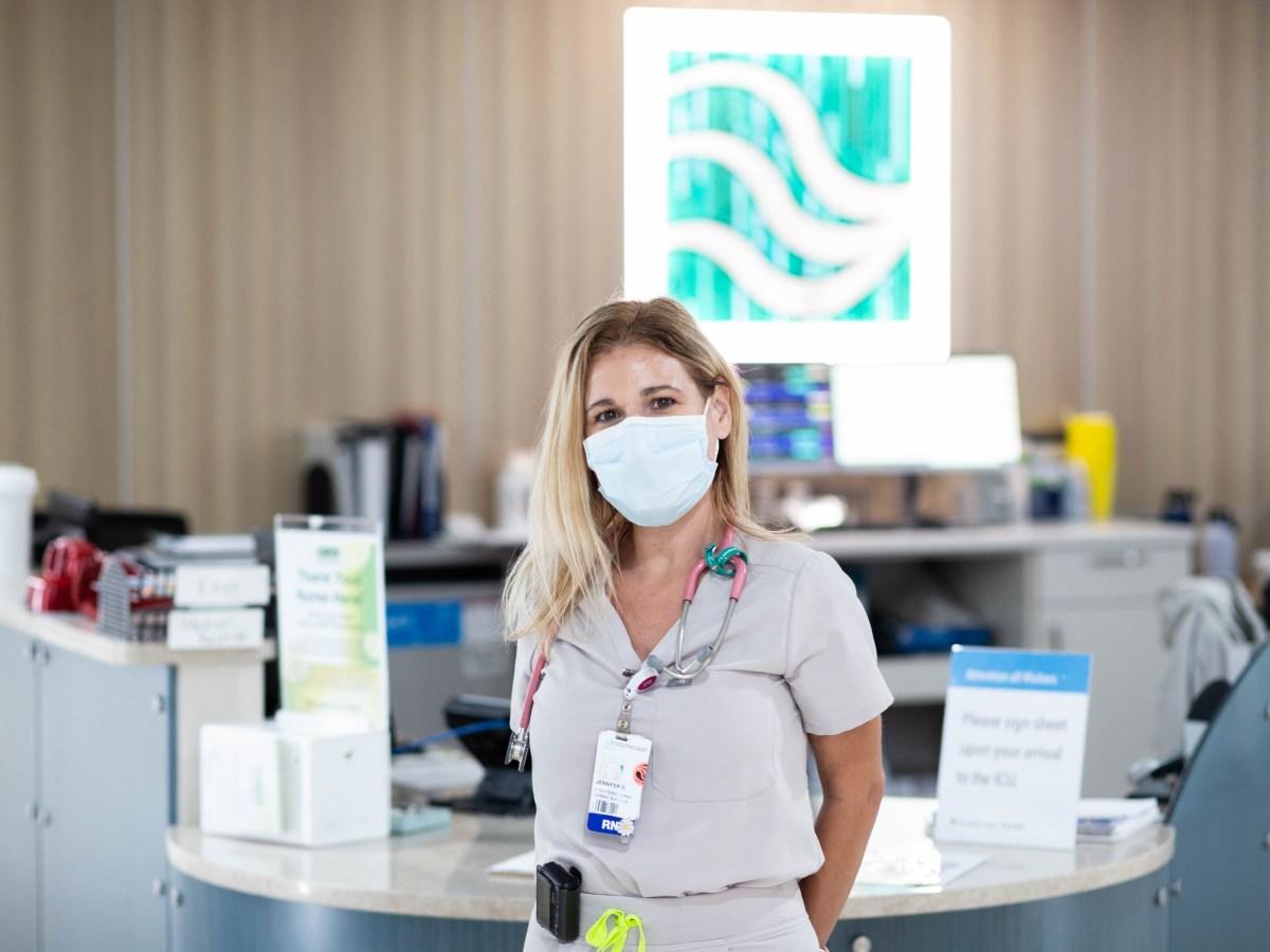 ICU nurse Jennifer Sousa.