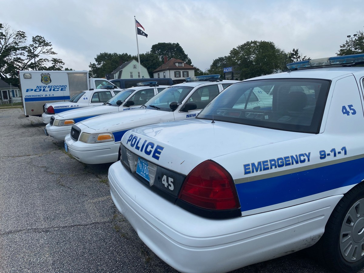 New Bedford police cruisers.