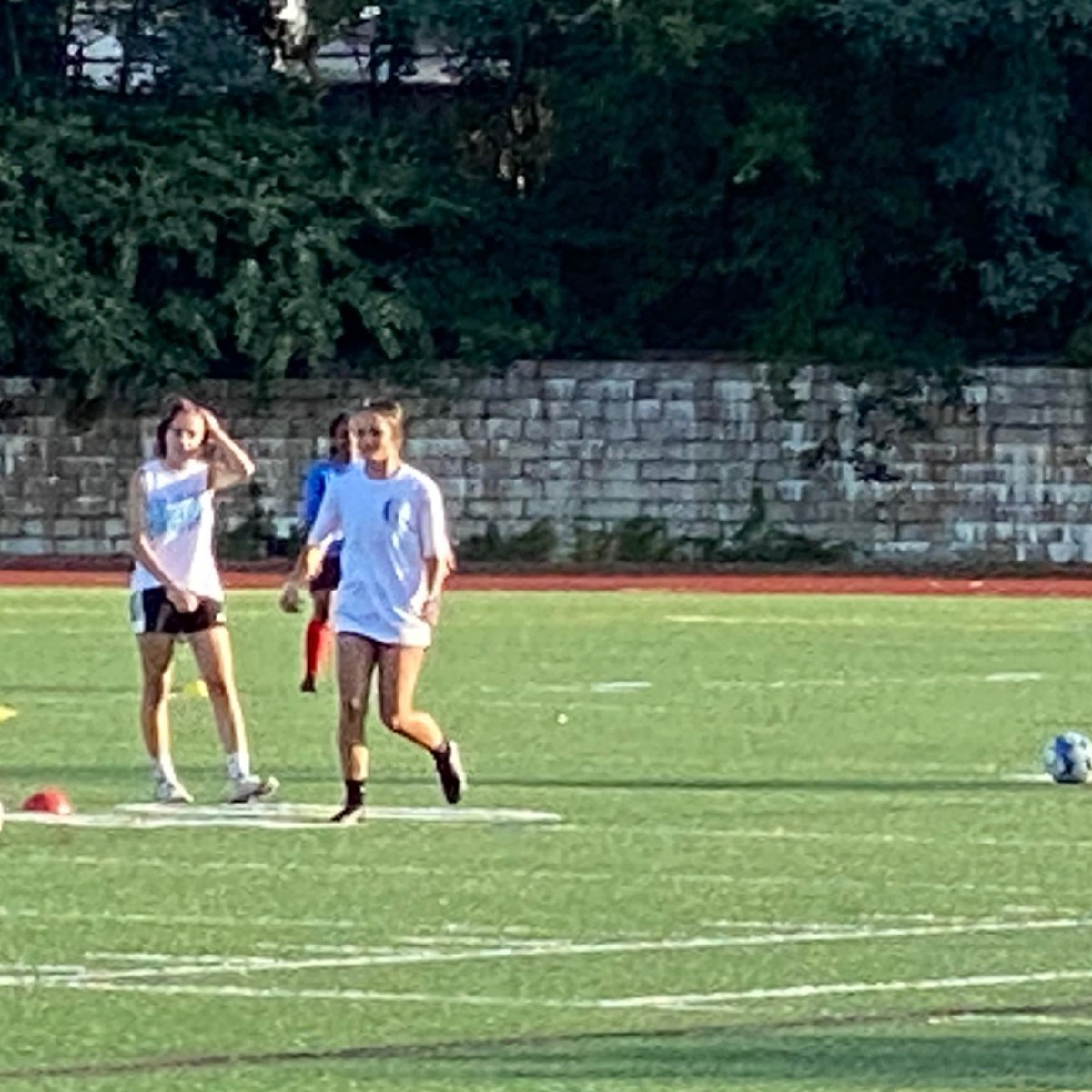 Soccer practice at Andrea McCoy Athletic Field.
