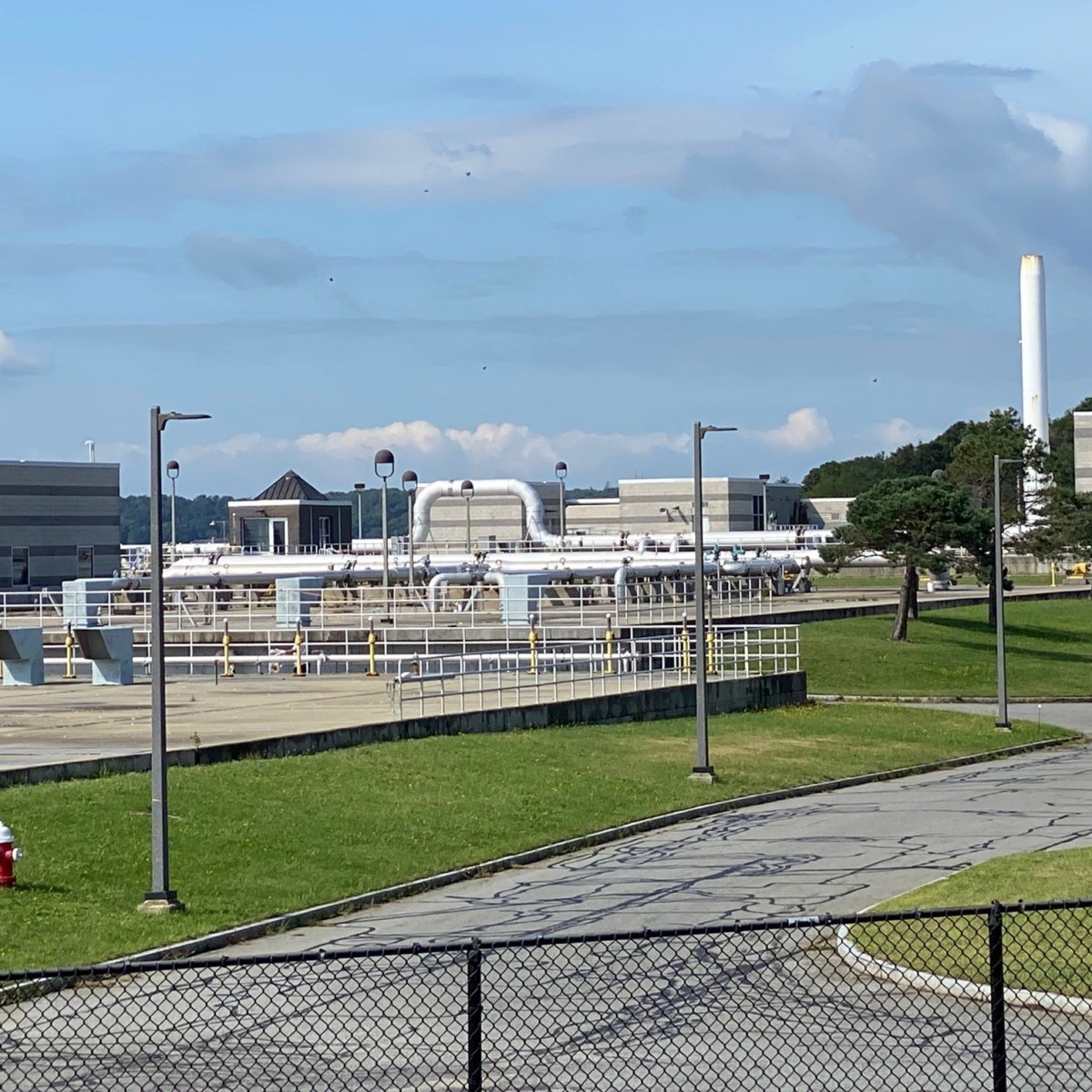 New Bedford sewage treatment plant in the South End.